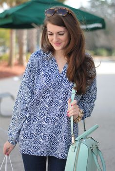 Southern Curls & Pearls: Shades of Blue