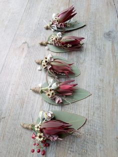 Luecadendron boutonnieres by RANE flowers