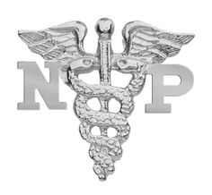Nurse Practitioner NP Graduation Nursing Pin Jewelry - Sterling Silver