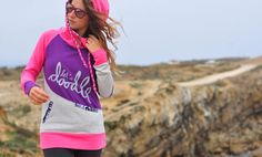 Make yourself happy with some crazy bright colors and inspirational quotes on your favourite piece of cloth - handmade hoodie with coconut buttons, colorful cords and ocean pattern details
