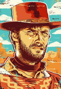 Clint Eastwood Pop Art Print 13x19 by RedRobotCreative on Etsy, $25.00