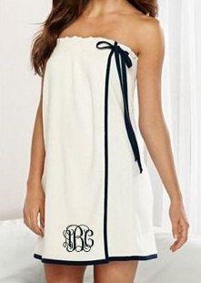 Monogrammed Towel Wrap. Spa Wrap. Bridesmaid by GecesGiftShop, $35.99