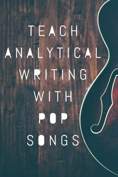 High school English and middle school ELA lesson plans and resources that engage students with pop songs! Perfect for teaching close reading argument rhetorical analysis argument writing and more! High School Writing, Middle School Ela, Middle School English, Ela High School, Argument Writing Middle School, High Schools, Close Reading, Teaching Plan, Teaching Themes