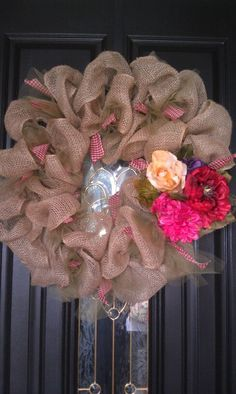 My burlap wreath!