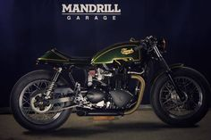 "Triumph Cafe Racer ""Classic Racer"" by Mandrill Garage #motorcycles #caferacer…"