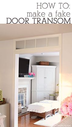DIY home decorating idea on a budget. How to make a fake window transom for over a doorway using a $5.00 mirror.  In My Own Style