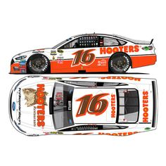 Greg Biffle Action Racing 2016 Darlington #16 Hooters 1:24 NASCAR Sprint Cup Series Gold Die-Cast Ford Fusion - $44.99