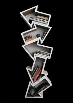 Casual Bookshelf Design Ideas To Decorate Your Room 03 Cardboard Furniture, Cool Furniture, Furniture Design, Furniture Market, Furniture Dolly, Modern Furniture, Creative Bookshelves, Bookshelf Design, Bookshelf Ideas