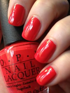 OPI Red Lights Ahead ... Where? Such a pretty bright red nail polish!