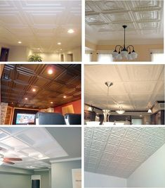 A Curated Lifestyle: public service announcement {drop ceiling tiles} Drop Ceiling Basement, Drop Ceiling Tiles, Dropped Ceiling, Drop Ceiling Makeover, Basement Remodeling, Basement Ideas, Basement Makeover, Bathroom Remodeling, Plafond Design