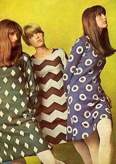 #1960 vestidos de día de la diseñadora Británica Mary Quant, inventora de la Minifalda