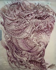 Lessons That Will Get You In The arms of The Man You love Dragon Tattoo Full Back, Asian Dragon Tattoo, Dragon Sleeve Tattoos, Full Back Tattoos, Japanese Dragon Tattoos, Japanese Back Tattoo, Japanese Tattoo Designs, Japan Tattoo Design, Tattoo Design Drawings