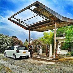 #toyota #corolla #e12 #corollasport #vvtli #2zzge #old #petrol #station #runx #allex #cyprus #nicosia #trd #jdm #stance Corolla Sport, Trd, Toyota Corolla, Pergola, Outdoor Structures, Instagram Posts, Arbors