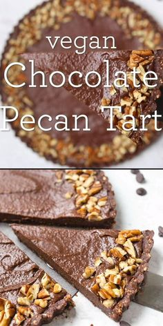 This amazing vegan chocolate tart recipe is no bake, super simple to make and tastes incredible! Best of all it's gluten-free, grain-free and uses just 10 simple ingredients! Perfect easy, homemade, from-scratch dessert for a crowd. Raw Vegan Desserts, Vegan Dessert Recipes, Tart Recipes, Vegan Sweets, Healthy Sweets, Easy Desserts, Heart Healthy Desserts, Whole Food Desserts, Crowd Recipes