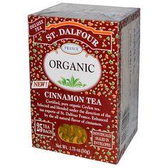 St. Dalfour, Cinnamon Tea, 25 Tea Bags, 1.75 oz (50 g) - iHerb.com