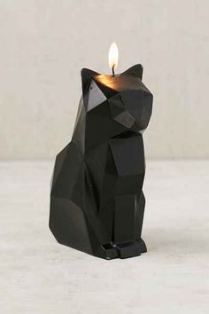 Burn the Cat Candle and reveal the metal skeleton inside....