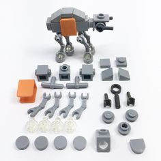 As promised, instructions for the AT-ACT of my micro Scarif MOC! This one comes in at 30 parts even. Swipe 👈 for step-by-step instructions. FYI, the orange part is a minifig vest and the clear parts are round plates with handle.