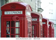 London telephone booths.