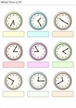 Printable worksheets for kids What time is it? Printable Activities For Kids, Kindergarten Worksheets, Printable Worksheets, Printables, Led Wall Clock, Rustic Wall Clocks, What Time Is, Gifts For Office, Exercise For Kids