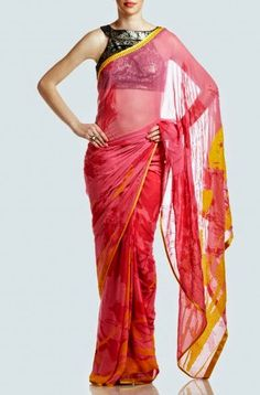 Satya Paul Cocktail Sareee Summer Dresses Collection 2014