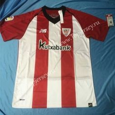 3648b8e1b8b 2018-19 Athletic Bilbao Home Red and White Thailand Soccer Jersey AAA