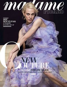 Aymeline Valade by Olivier Saillard for Madame Figaro France February 2016 cover