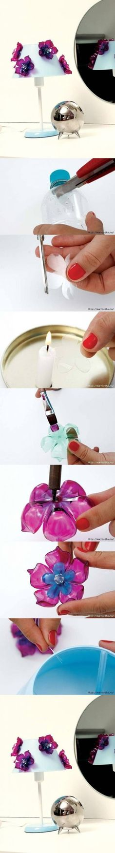 DIY Flowers of Recycled Plastic Bottles DIY Projects