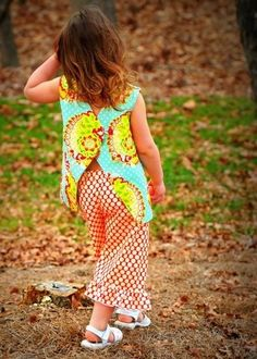 I like this back!  Different!  PDF Pattern Sewing Pattern Pinafore Top for Girls by tiedyediva, $8.00