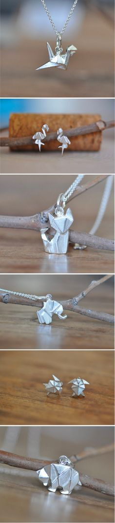 These handmade origami-inspired accessories are simple and dainty, and great for everyday jewelry.