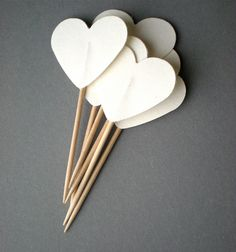Pure Love Hearted Toppers for Weddings  Ivory Tender by decoraland, €4.99