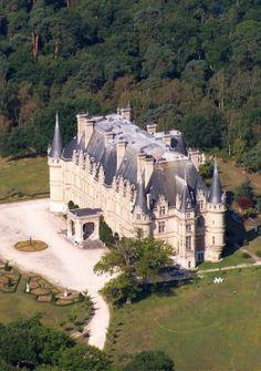 Château de Vallière, Mortefontaine, Oise, Picardie / Picardy, France