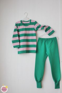 shirt and pants from Nosh organic cotton jersey and strech college