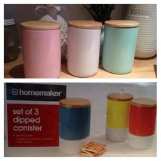 Repainted containers. #KmartHack