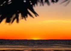 Sonnenuntergang am Meer von Tunesien