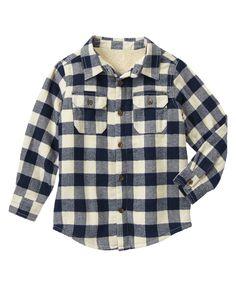 Checked Shirt Jacket at Gymboree