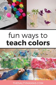 Painting with Bubbles // Painting with soap bubbles – such – Spring Break Kids – neon nail art Motor Skills Activities, Infant Activities, Craft Activities, Childcare Activities, Color Activities, Activity Ideas, Toddler Art Projects, Toddler Crafts, Crafts For Kids