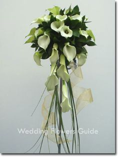 calla cascade wedding bouquet