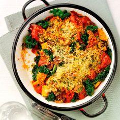 Kale and sardine bake recipe