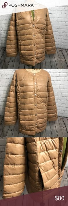 """Women's light weight Puffer Jacket *NWT* sz 26/28 This ultra-chic and lightweight coat will become your personal space heater for falling temperatures. Snap front closure, 2 front pockets, two inner pockets, quilted body, hem drops to about 32"""", poly fill nylon -super lightweight, yet so warm!! Item BRLWS2628D14C00F0-091217 Jackets & Coats Puffers"""