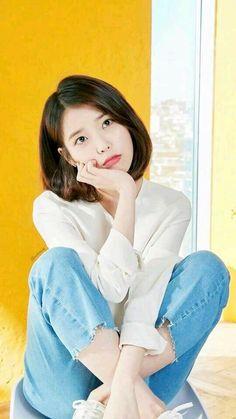 Cute Korean, Korean Girl, Asian Girl, Iu Short Hair, Short Hair Styles, Iu Fashion, Korean Fashion, Korean Beauty, Asian Beauty