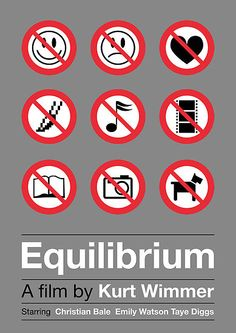 Equilibrium by Viktor Hertz #movie #poster
