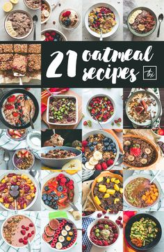 21 Oatmeal Recipes You Need to Try (vegan) Oatmeal Recipes, Vegan Breakfast Recipes, Vegan Desserts, Brunch Recipes, Vegetarian Recipes, Healthy Recipes, Low Food Map Diet, Best Gluten Free Recipes, Dairy Recipes