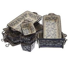 Temp-tations Floral Lace 16-Piece Oven To Table Set.CARRIE WOULD LOVE THIS SET...IT HAS EVERYTHING! <3