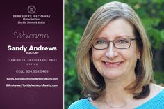 BERKSHIRE HATHAWAY HOMESERVICES FLORIDA NETWORK REALTY WELCOMES SANDY ANDREWS