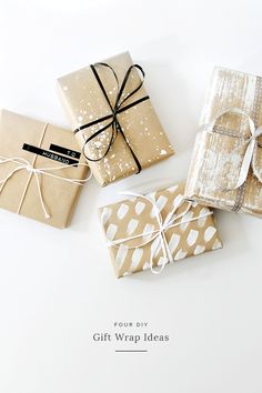 four DIY gift wrap ideas