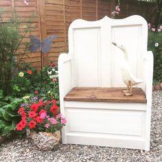 Beautiful Shabby Chic Monks Bench pew Storage Seat Annie Sloan