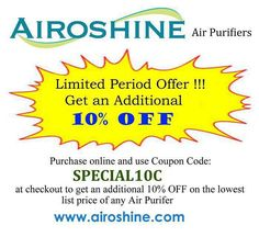Buy your Airoshine air purifier today