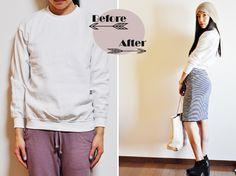 DIY:: Cutout & Cropped Sweatshirt