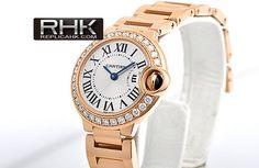 Cartier Ballon Bleu Diamonds Gold Ladies Replica Watch WE9002Z3