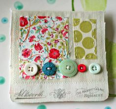 loving the vintage fabric and buttons!